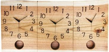 結婚式 両親へのプレゼント 時計をご両家の絆に 木の暮らし オーダー 3連
