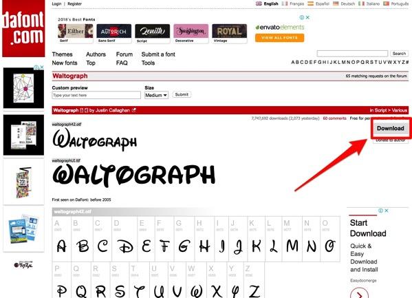 Waltograph Font dafont com